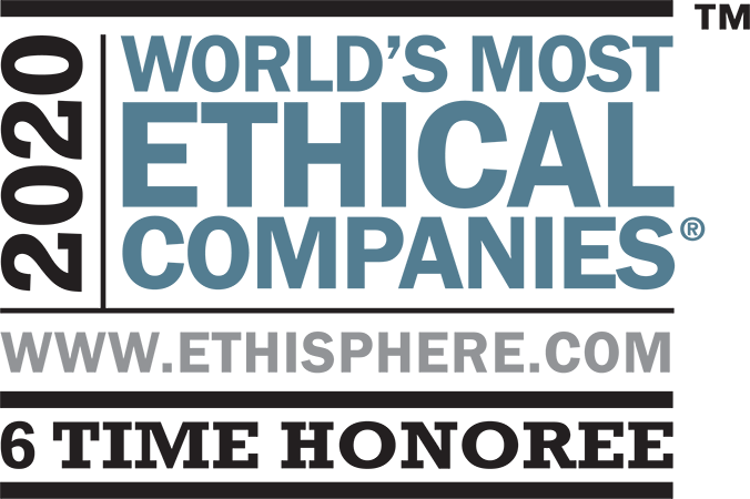 2020 World's most ethical companies, trademark, www.ethisphere.com