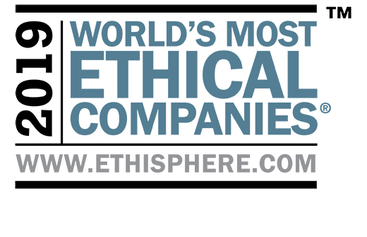 2019 World's most ethical companies, trademark, www.ethisphere.com