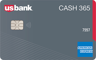 U.S. Bank cash 365 american express credit card