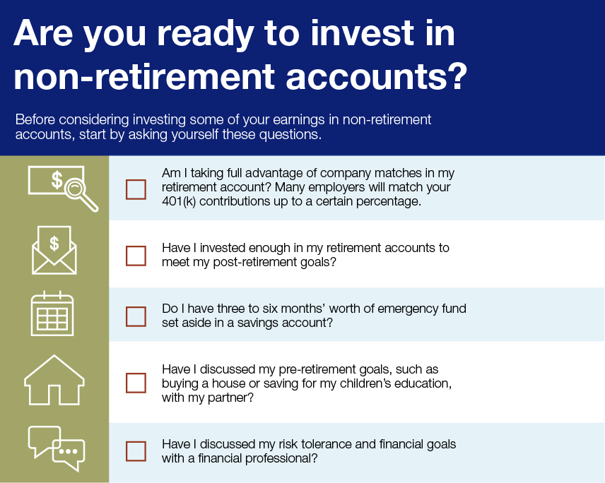 Visual: Are you ready to invest in non-retirement accounts?